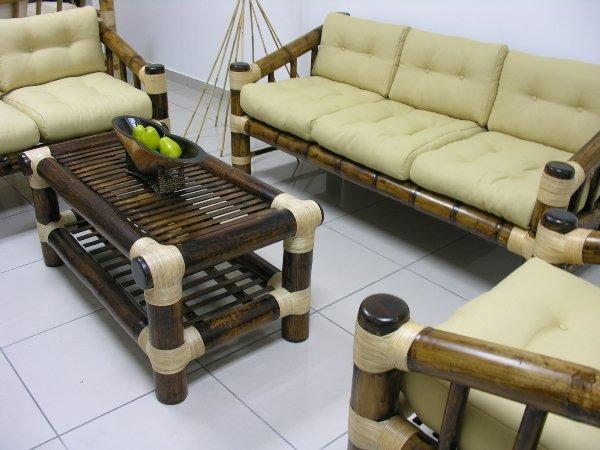 Bamb atra sala de estar - Muebles en bambu ...