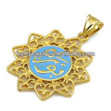 Pendentif en or designs hommes de naissance anneau pendentif