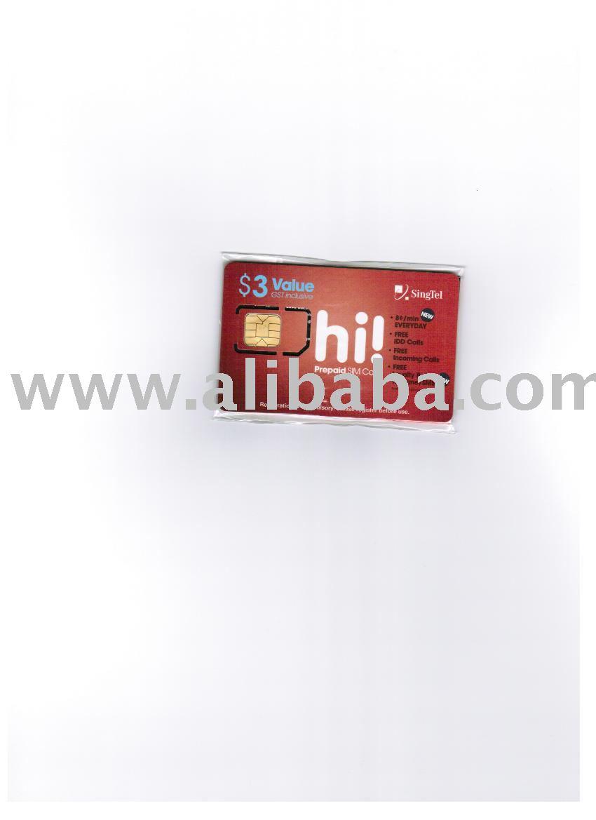 Singtel prepaid cards(Singapore)