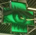 2013 nueva 3d al aire libre farmacia cruz pantalla led, de propiedad intelectual independiente