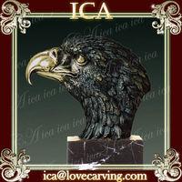 ICA,Eagle head sculpture,brass eagle bronze sculpture AL-017