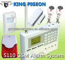 Intruder wireless home alarm system+8 wired zone+CE Certificate,supply OEM/ODM service