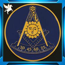Masonic zinc alloy lapel pin and emblem