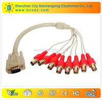 Security sensor reasonable price VGA DB15 to 8 BNC female cable