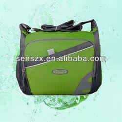 Polyester Messenger Bag With Mesh Side Pockets