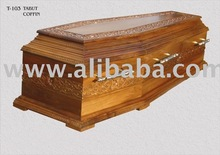walnut handcraft coffin