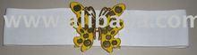 Elastic belt butterfly buckle