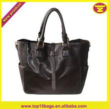 2013 Fashion Faux PU Leather Bags Side Pocket High Quality Tote Handbags Ladies