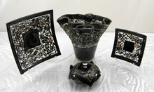 Unique Fused Glass Tableware Decoration Art & Craft Handmade Glassware Candle Holders Unique Clock Vase Plates