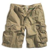 Twill Cargo Khaki Shorts