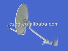 ku band 0.6 meter flat satellite antenna