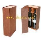 custom paper wine packaging box with insert for 2 bottle