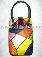 Buntal (tall) Handbag-Colorful Patches