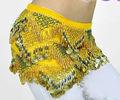 swegal 2013 sgbdp13038 1 color amarillo de la moda sexy danza del vientre moderno bufanda de la cadera