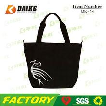 Customized Eco Black Cotton Shopping Bags DK-14