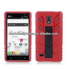 transformer pc silcione combo kickstand case For LG P769 Optimus L9