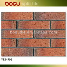 60x240mm russia clinker tile facade interior decorative brick walls