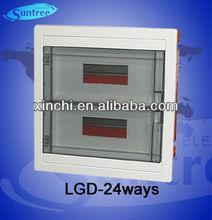 flush mounting mcb electrical 24 way distribution box