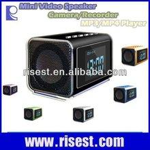 Mini Speaker+ MP4+Video Camera+FM Radio+Table Clock