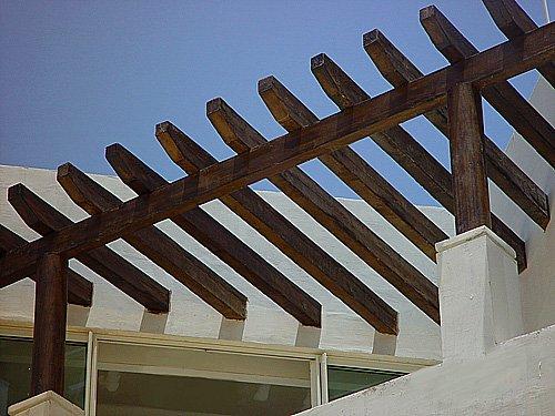 Artificial de las vigas de madera otros tipos de madera - Vigas redondas de madera ...