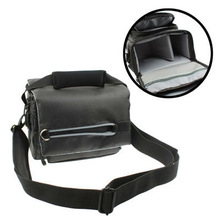 Portable Digital Camera Padded Cloth Bag with Waterproof Cover / Strap, Size: 195x115x130mm