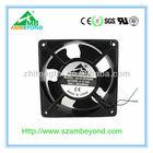 120x120x38mm ac fan 220V 50 Hz 12 square box metal blade fan