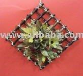 Parede decoração e arranjo floral