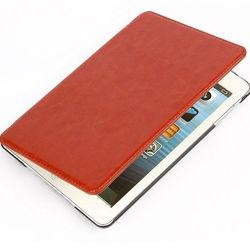 PU Horse Skin for ipad mini horse leather case