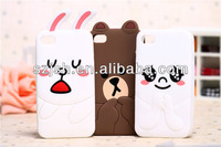 cartoon silicon mobile phone protective cases for apple iphone