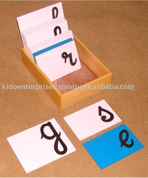 letters of alphabet in cursive. Sandpaper Letters Cursive