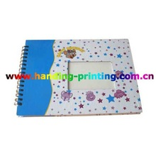 Cheap and custom spiral notebook with color pages
