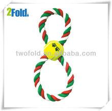 Tennis Ball Cotton Rope Dog Training Clicker