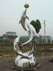 dolphion stainless steel / cooper for outdoor sculpture
