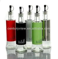 round clear glass cruet 500ml olive oil glass bottle