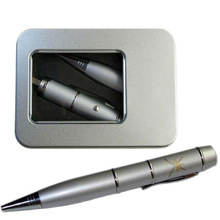 Black&Silver Metal Laser USB Pen Popular 32GB