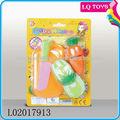 البلاستيك الرخيص لعبة تقطيع الفواكه والخضروات لعبة للاطفال