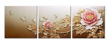 Handpainted Modern Flower Design Wall PAINTINGS ART