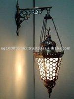 Handmade Wall Mount Hanging Lamp W/ Deco Bracket wall light
