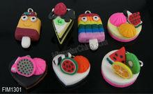 Artificial mix fruits cake pendant