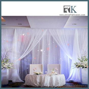 2013 RK-white tiffany drapery for princess dreamlike wedding decoration