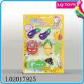 قطع البلاستيك 6 قطع تعيين لعبة لعبة l02017925 الخضار والفواكه