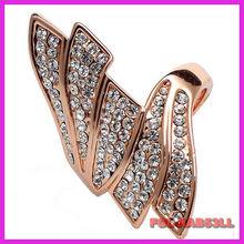 Stylish new ring inlaid jewelry Korean Korean Gold Jewelry
