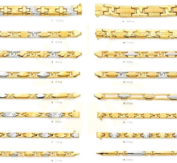 MEN'S GOLD BRACELETS - GOLD CHAINS, NECKLACES, WEDDING BANDS
