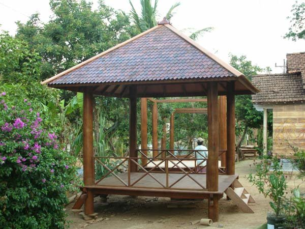 Balinese huts gazebo photo detailed about balinese huts for Garden hut sale