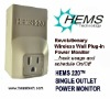 HEMS 220 SIngle Outlet Power Monitor