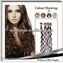 2014 Wholesale fashion Micro-ring /Loop Hair Extension human hair body wave humain hair