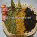 Las pasas de uva verde, pasas de uva roja, almendra, nuez, anacardo, pistacho, jalghoza( de piñones semillas)