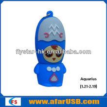 Hot sale!!!12 constellations usb flash drive,custom usb drives cheap cute gift fancy flash drive