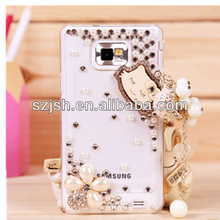 white crystal samsung mobile phone covers