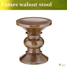 Solid wood retro makeup stool